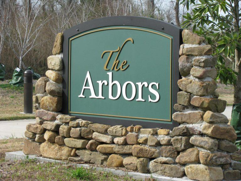 arbors estates subdivision sign