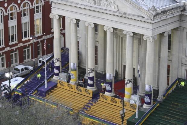 Gallier Hall at Mardi Gras, New Orleans LA