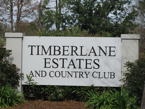 timberlane estates entry sign