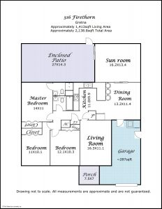 floor plan 316 Firethorn Dr Gretna LA