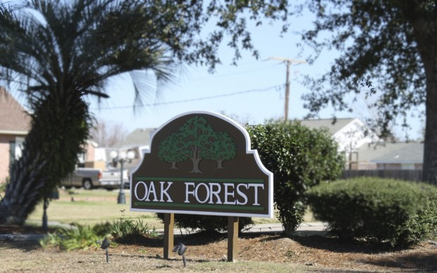 oak forest subdivision sign Marrero LA