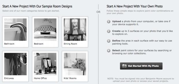 Design your room with Benjamin Moore online tools