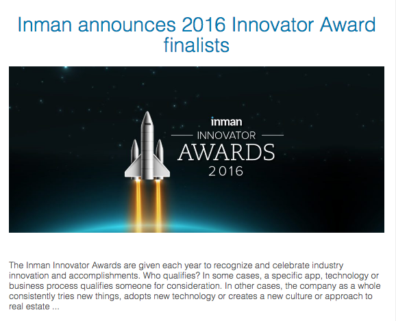 Crescent City Living nominated for Inman Innovator Award