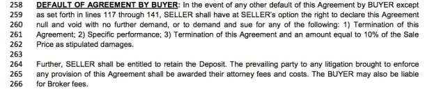LA purchase agreement