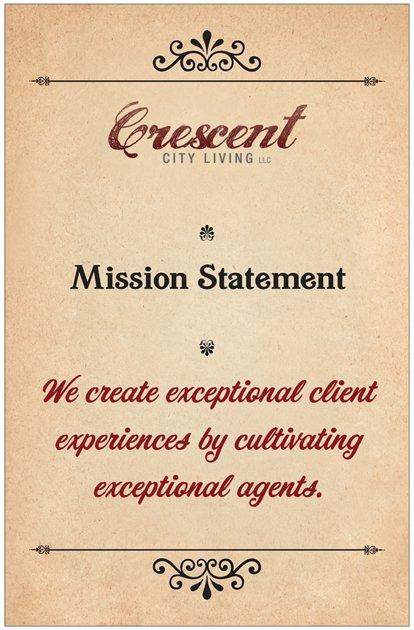 Crescent City Living LLC mission statement