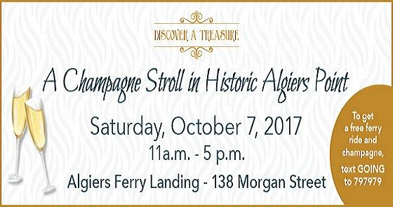 champagne stroll in algiers point