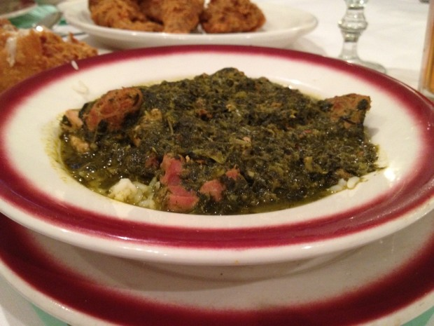 Easter in New Orleans - Traditional Holy Thursday meal at Dooky Chase's