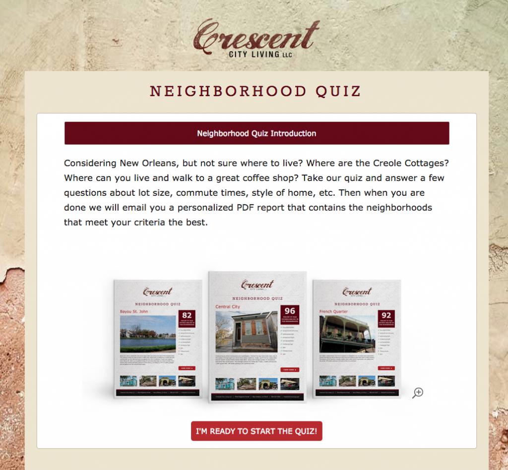 new orleans neighborhood quiz