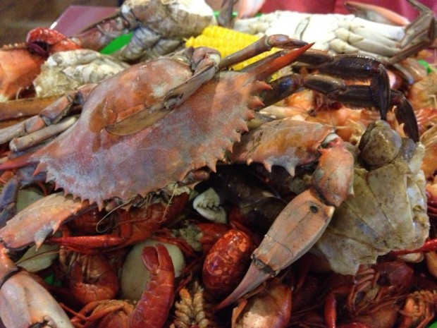 Easter in New Orleans - Boiled seafood on Good Friday