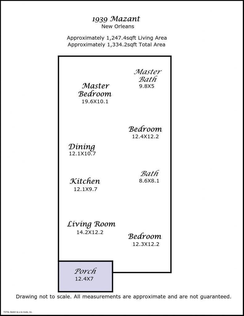 1939 Mazant St New Orleans LA floorplan