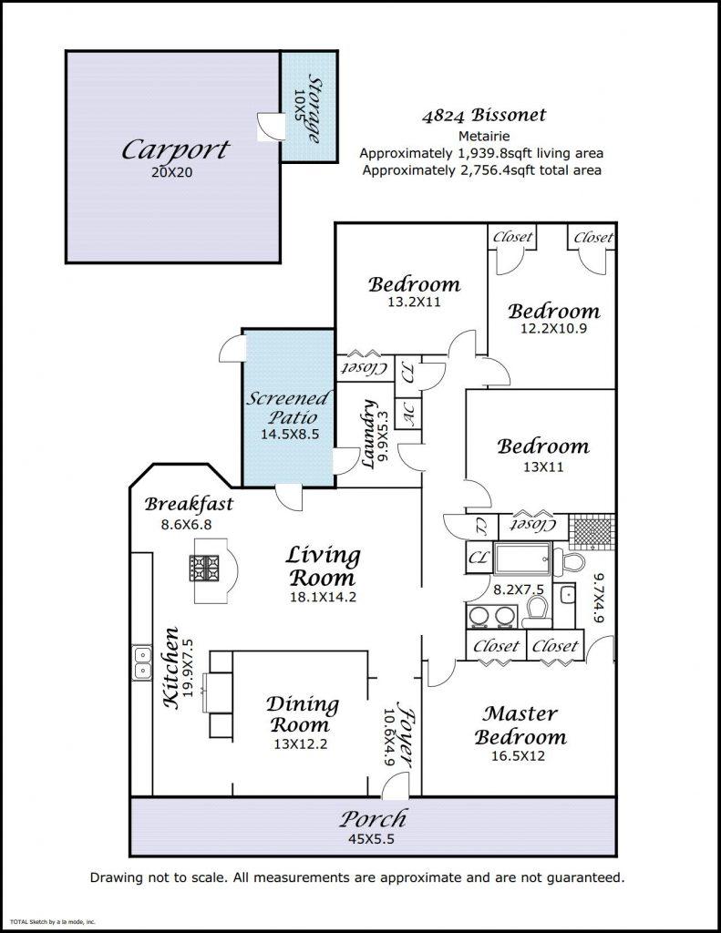 4828 Bissonet Dr floorplan