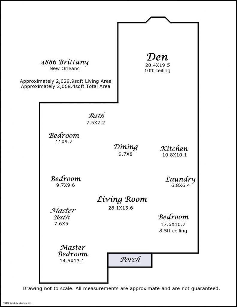 4886 Brittany Ct New Orleans LA floorplan
