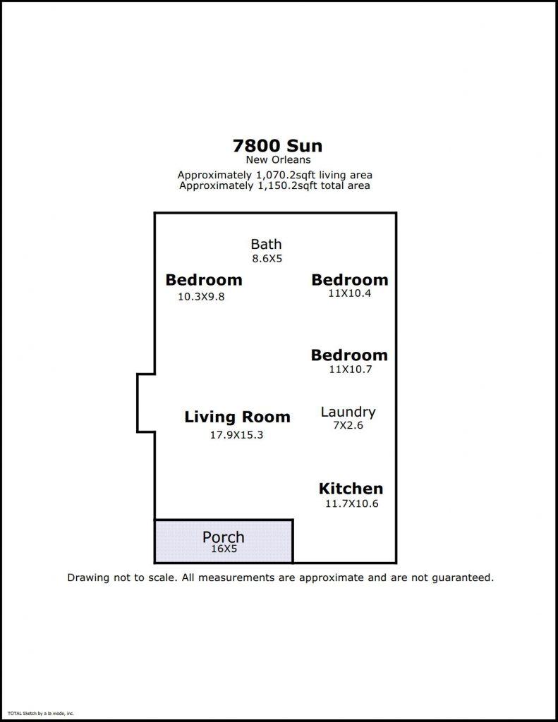 floorplan of 7800 Sun St