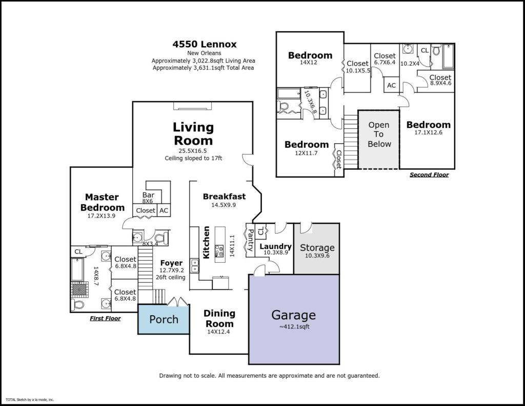 4550 Lennox Blvd New Orleans LA - floorplan