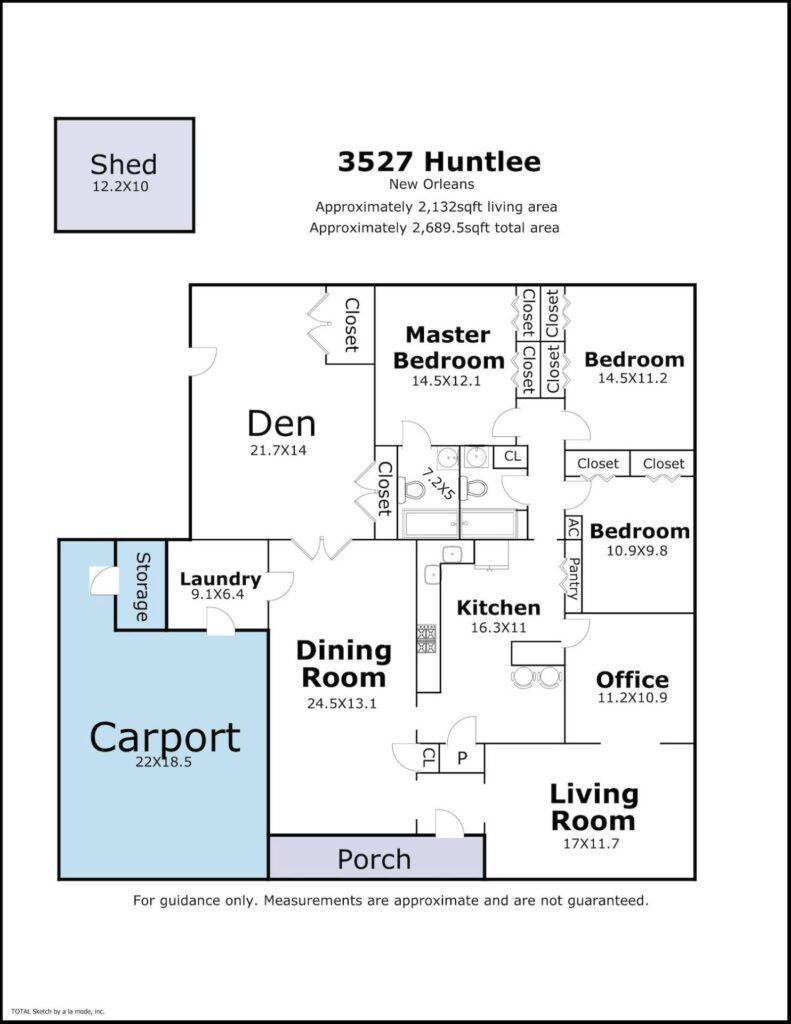 3527 Huntlee floor plan