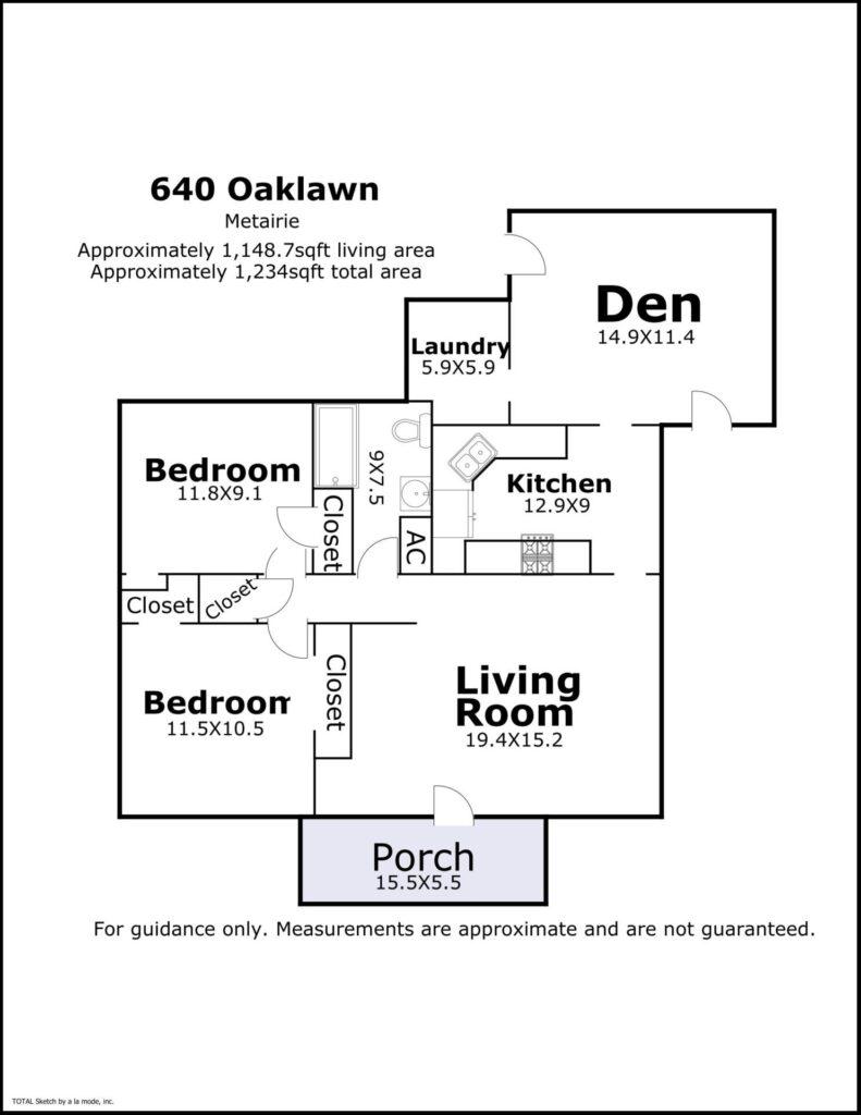 640 Oaklawn floorplan