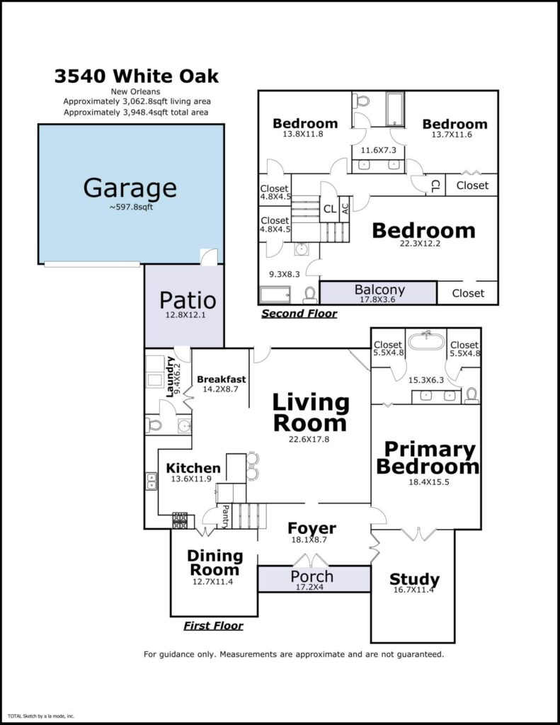 3540 White Oak Ave New Orleans LA floorplan
