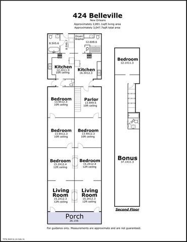 422-424 Belleville St, New Orleans LA floorplan