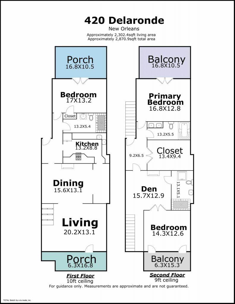 420 Delaronde St New Orleans LA floor plan