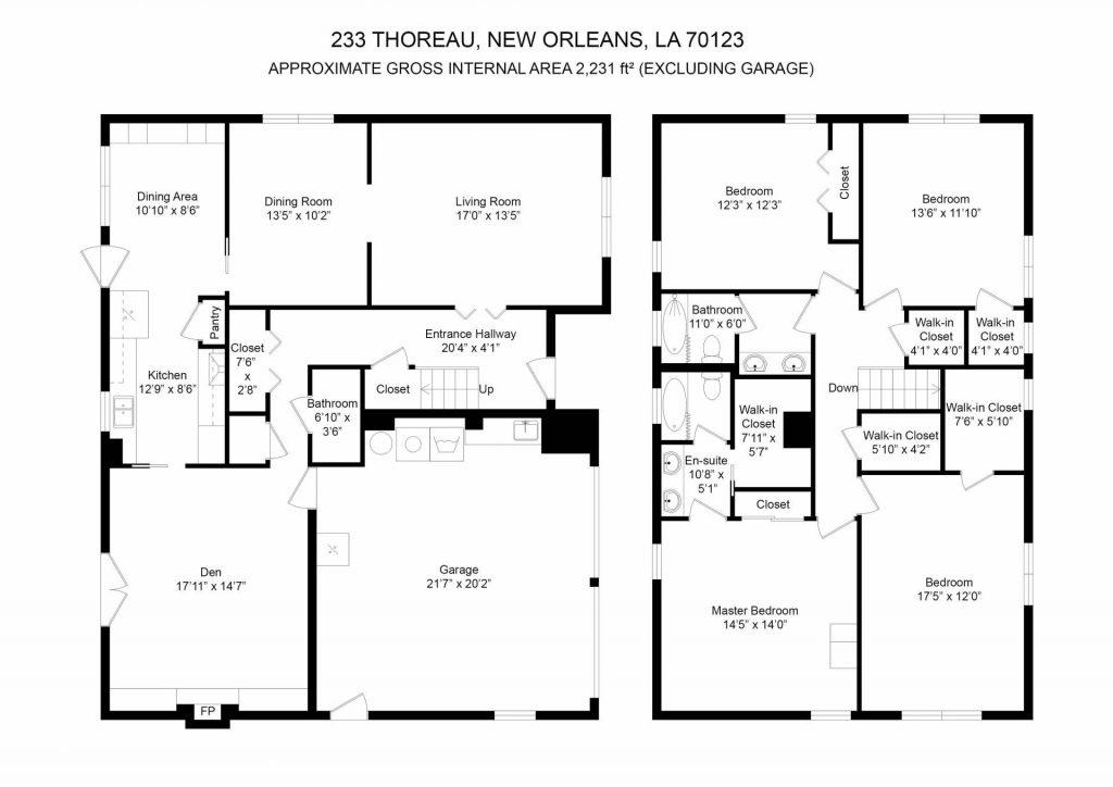 233 Thoreau St River Ridge LA floorplan
