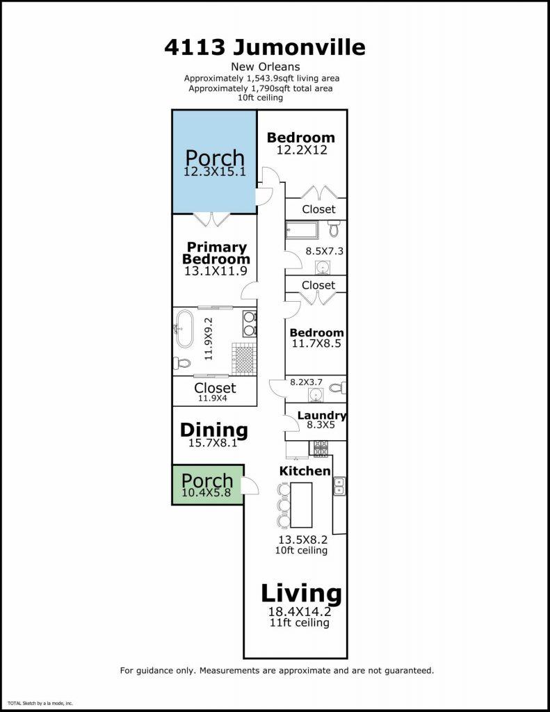 4113 Jumonville St New Orleans floor plan