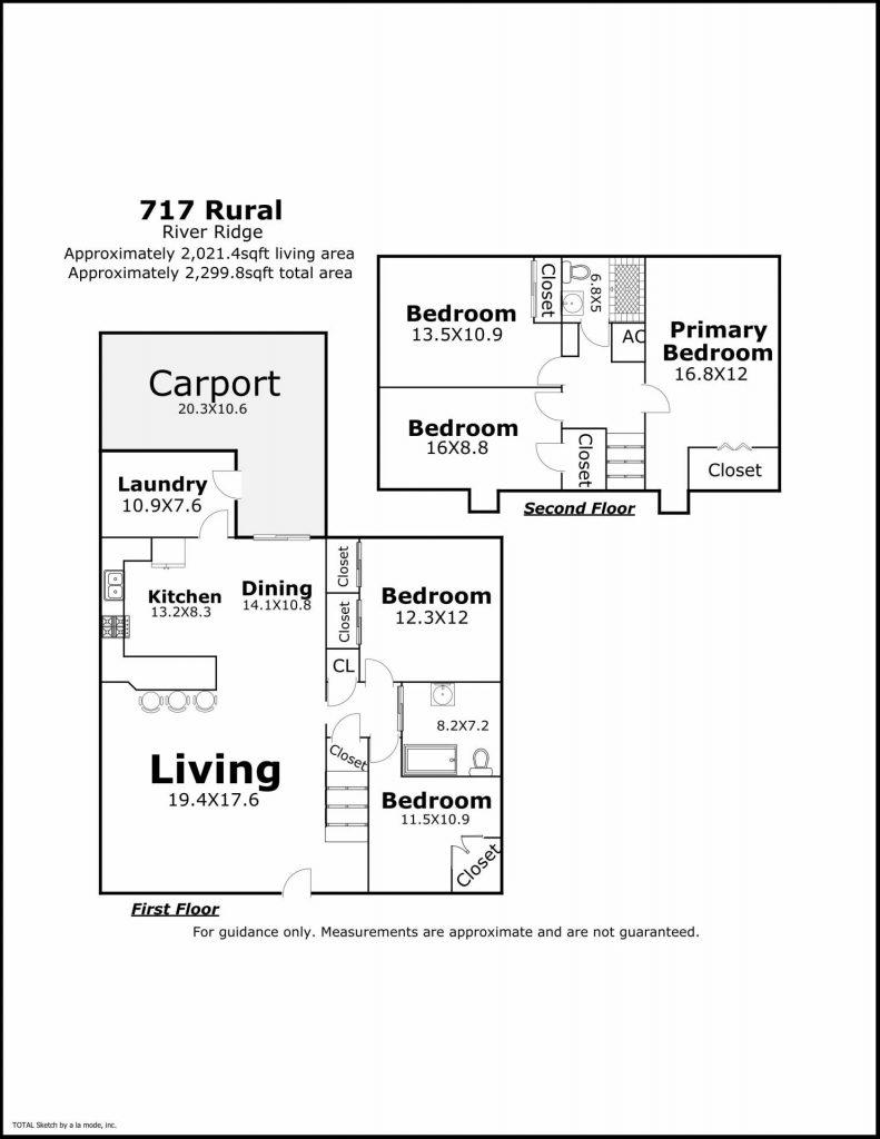 717 Rural St River Ridge LA floorplan