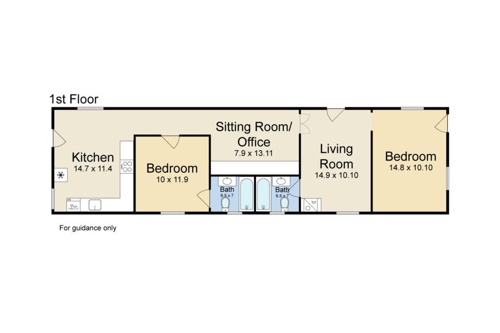 1509 St Roch New Orleans floorplan