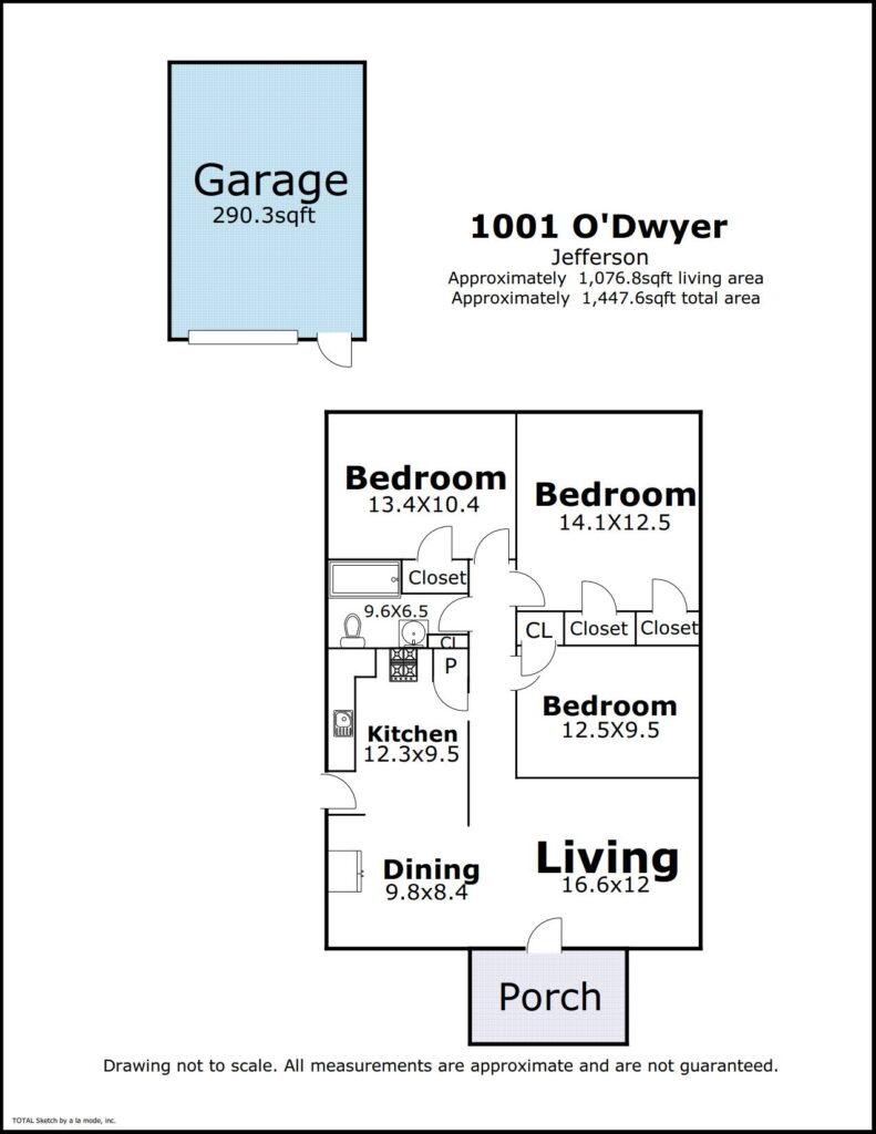 1001 O'Dwyer Pl Jefferson LA floor plan